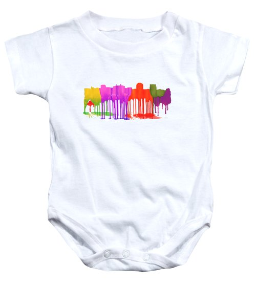 Colorado Springs Colorado Skyline Baby Onesie
