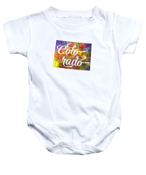 Colorado Us State In Watercolor Text Cut Out Baby Onesie