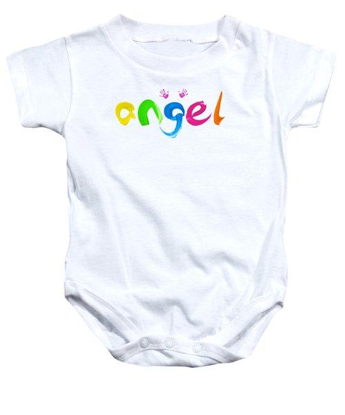 Colorful Angel Baby Onesie