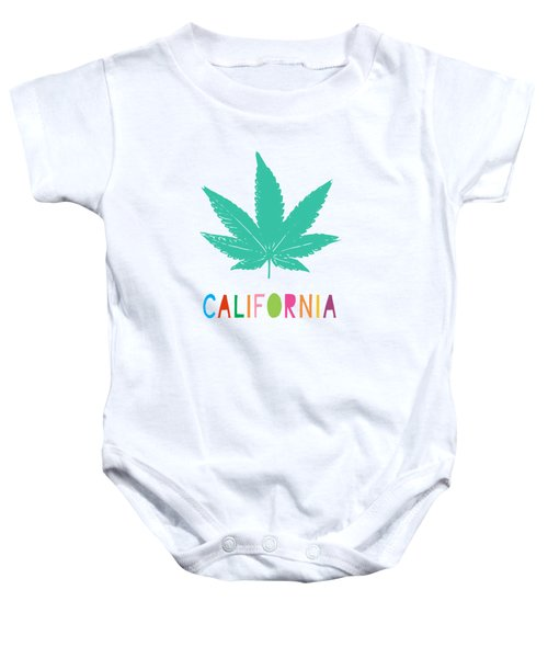 Colorful California Cannabis- Art By Linda Woods Baby Onesie