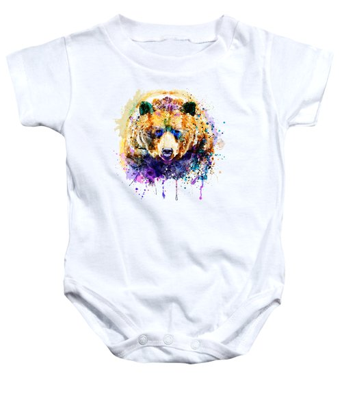 Colorful Grizzly Bear Baby Onesie