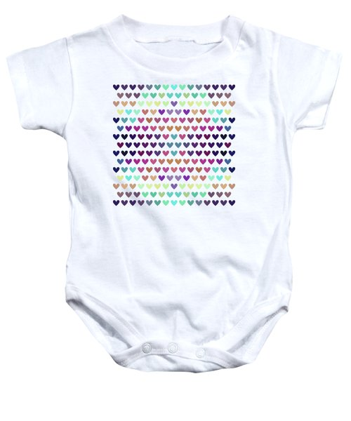 Colorful Hearts IIi Baby Onesie