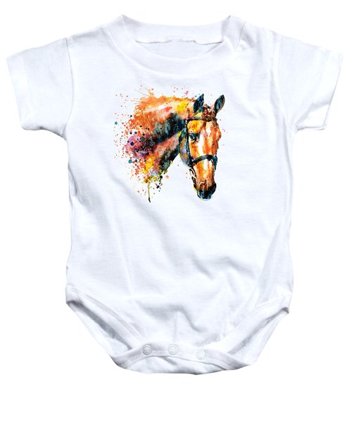 Colorful Horse Head Baby Onesie