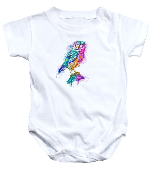 Colorful Owl Baby Onesie by Marian Voicu