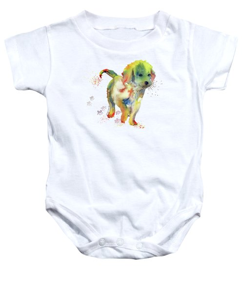 Colorful Puppy Watercolor - Little Friend Baby Onesie