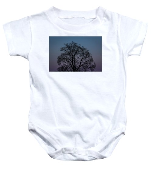Colorful Subtle Silhouette Baby Onesie