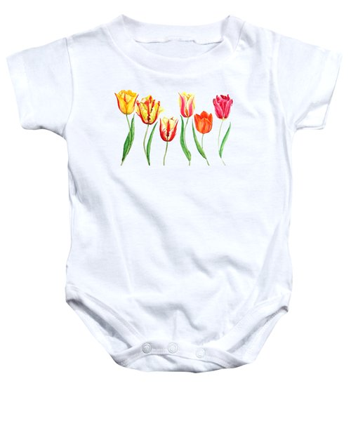 Colorful Tulips Baby Onesie