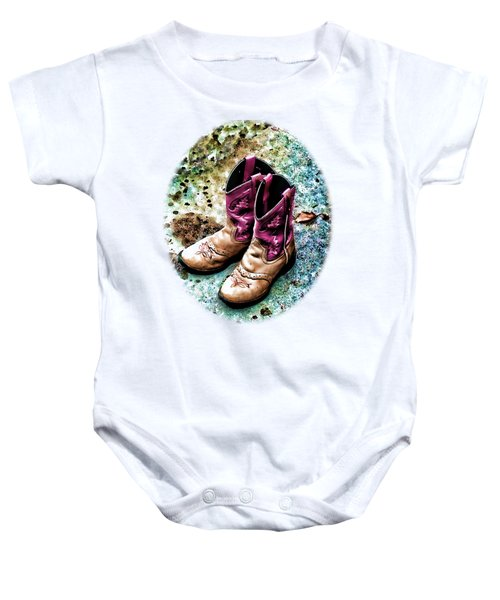 Colors Of A Cowgirl Oval White Baby Onesie