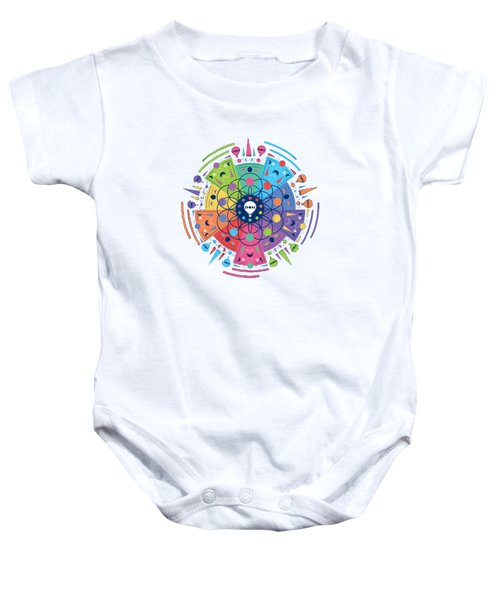 Colourful Of Stars Baby Onesie