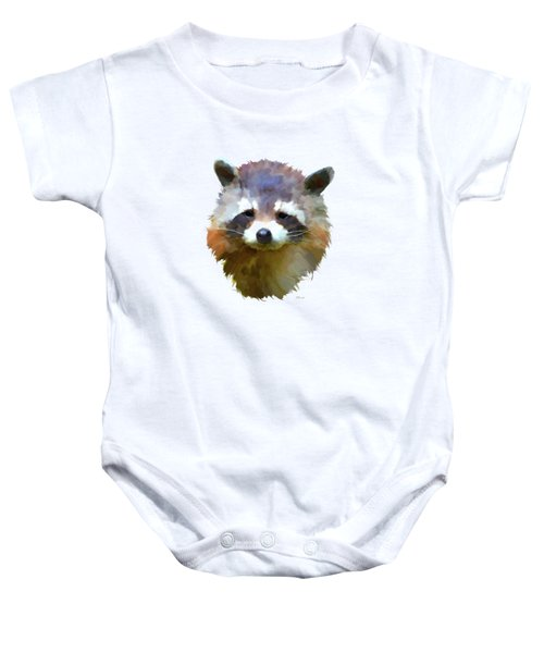 Colourful Raccoon Baby Onesie by Bamalam  Photography