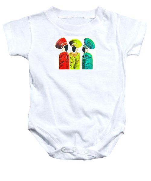 Colourful Trio - Original Artwork Baby Onesie