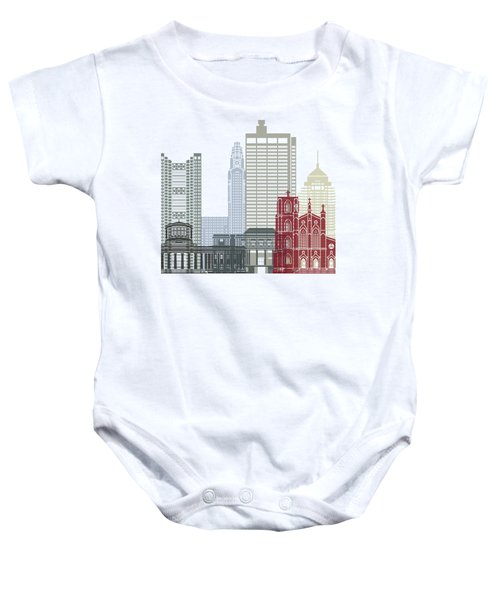 Columbus Oh Skyline Poster Baby Onesie