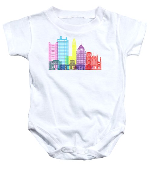Columbus Skyline Pop Baby Onesie
