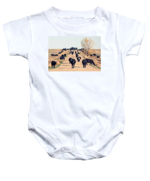 Coming Down The Road Baby Onesie