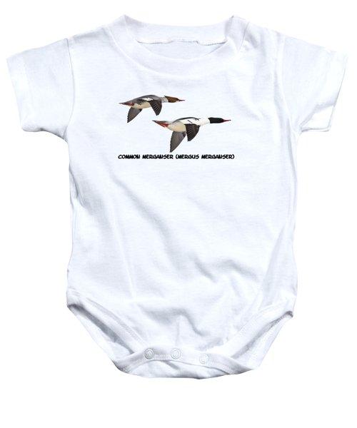 Common Mergansers  Isolated 2014-1 Baby Onesie
