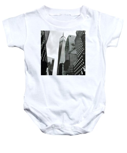 Commuters' View Of 1 World Trade Center Baby Onesie