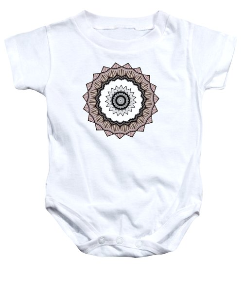 Construction Mandala By Kaye Menner Baby Onesie by Kaye Menner
