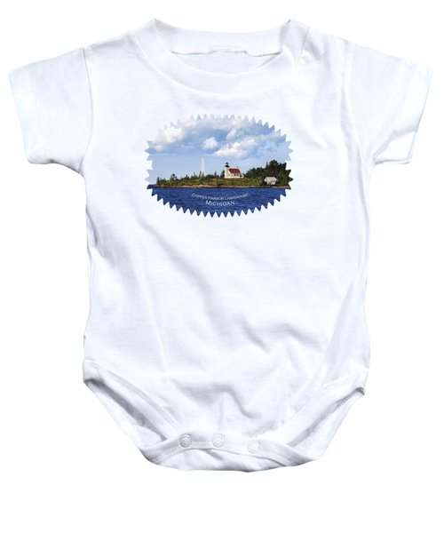 Copper Harbor Lighthouse Baby Onesie