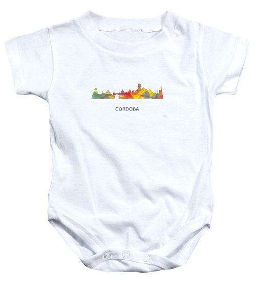 Cordoba Argentina Skyline Baby Onesie