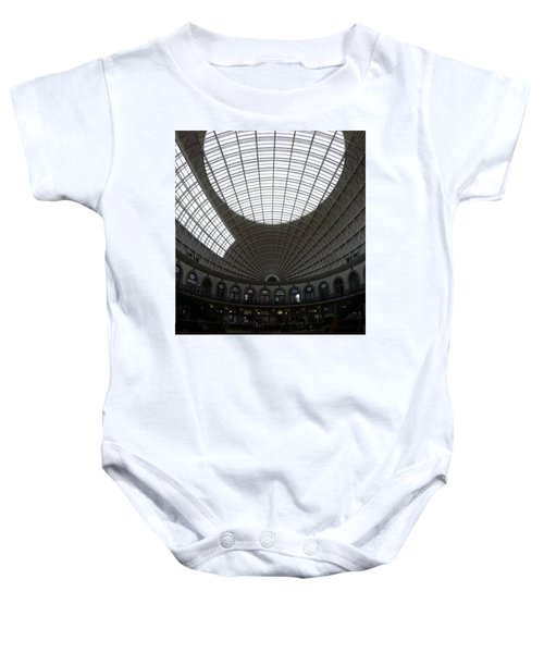 Baby Onesie featuring the photograph Corn Exchange by Pedro Fernandez