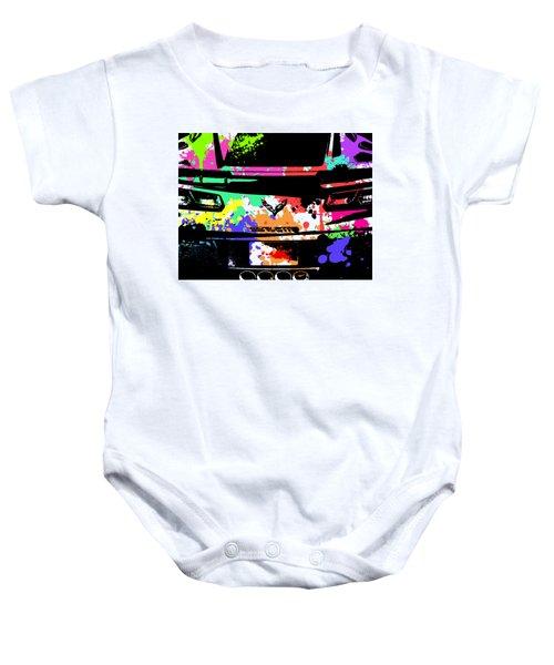 Corvette Pop Art 2 Baby Onesie