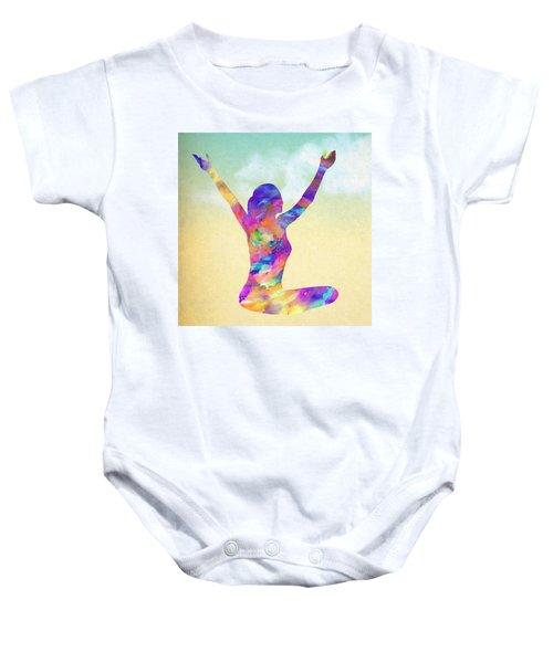 Cosmic Meditation - Texture Baby Onesie