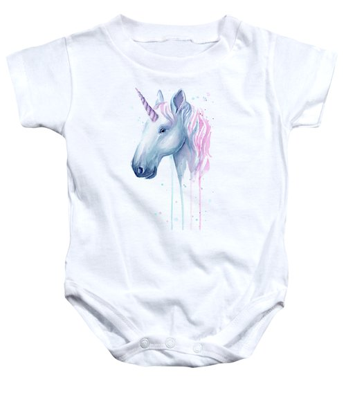 Cotton Candy Unicorn Baby Onesie