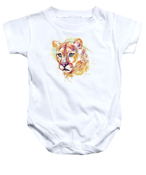 Cougar Head Baby Onesie by Marian Voicu