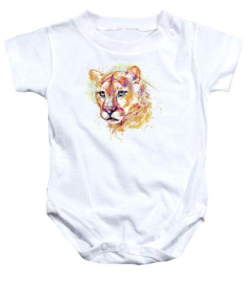 Cougar Head Baby Onesie