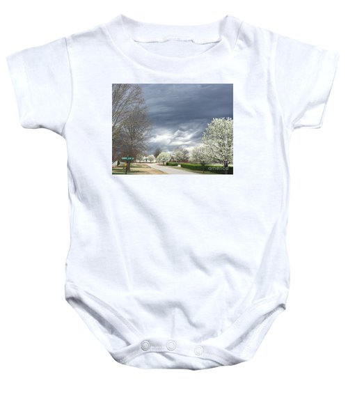 Country Club Circle Baby Onesie