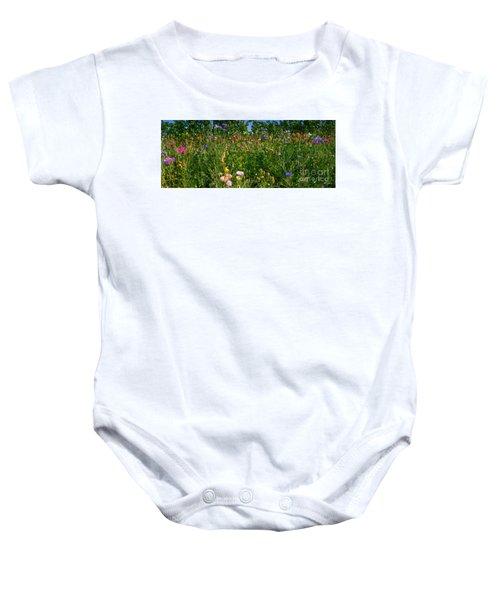 Country Wildflowers IIi Baby Onesie