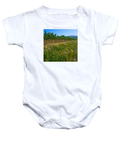Country Wildflowers V Baby Onesie