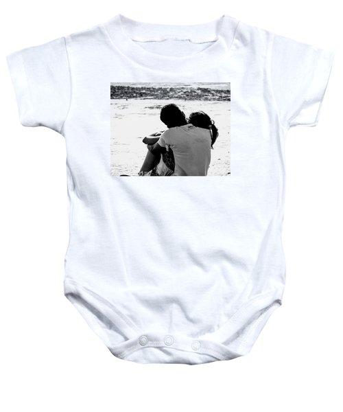 Couple On Beach Baby Onesie
