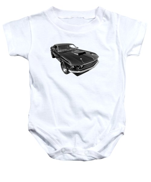 Coz I Can Black And White Baby Onesie by Gill Billington