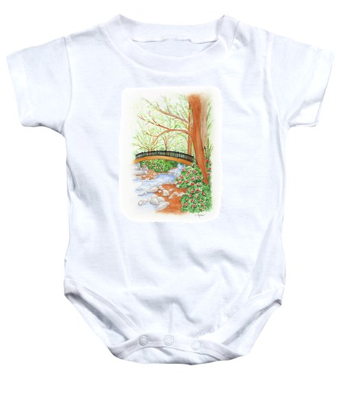 Creek Crossing Baby Onesie
