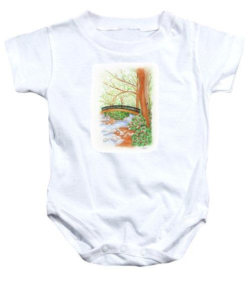 Creek Crossing Baby Onesie