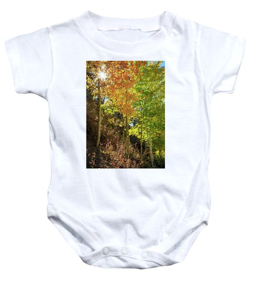 Baby Onesie featuring the photograph Crisp by David Chandler