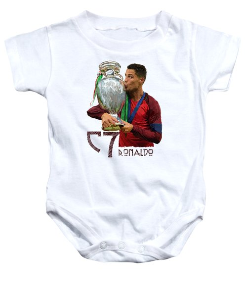 Cristiano Ronaldo Baby Onesie by Armaan Sandhu
