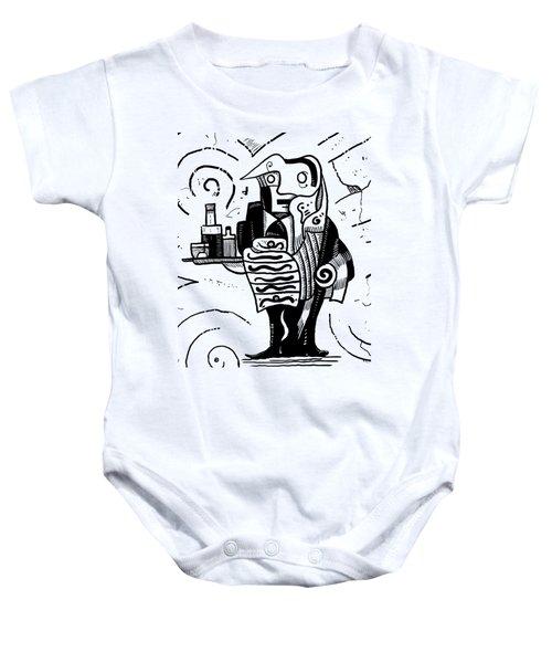 Cubist Waiter Baby Onesie