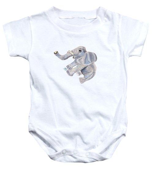 Cuddly Elephant IIi Baby Onesie