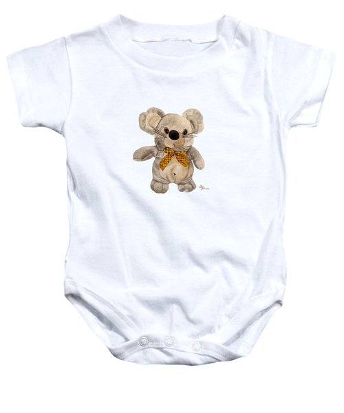 Cuddly Mouse Baby Onesie by Angeles M Pomata