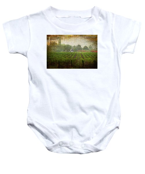 Cultivating A Chardonnay Baby Onesie
