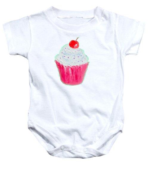 Cupcake Painting Baby Onesie
