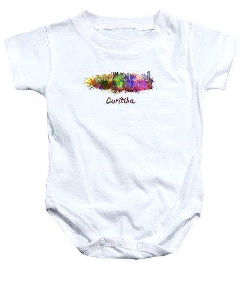 Curitiba Skyline In Watercolor Baby Onesie