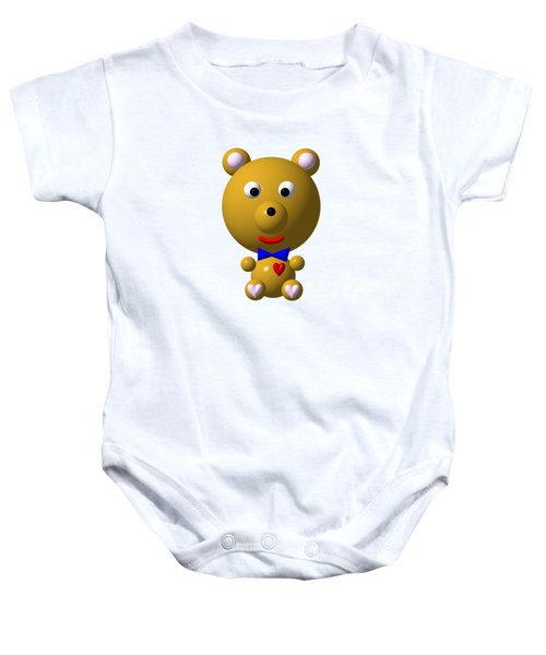 Cute Bear With Bow Tie Baby Onesie