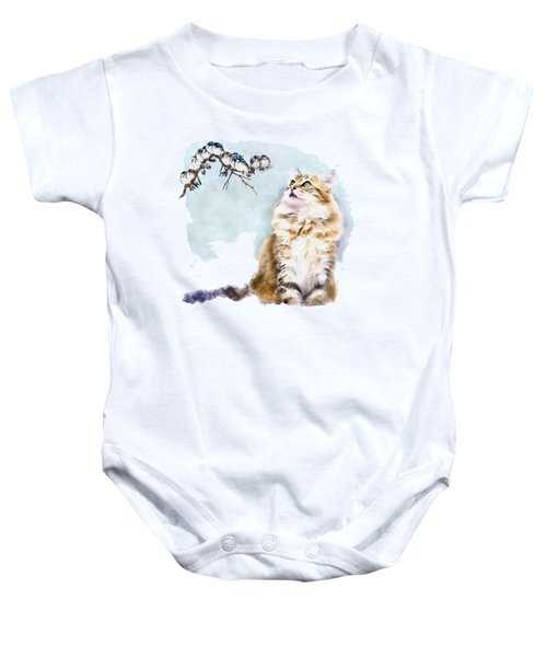Cute Cat On The Lurk Baby Onesie