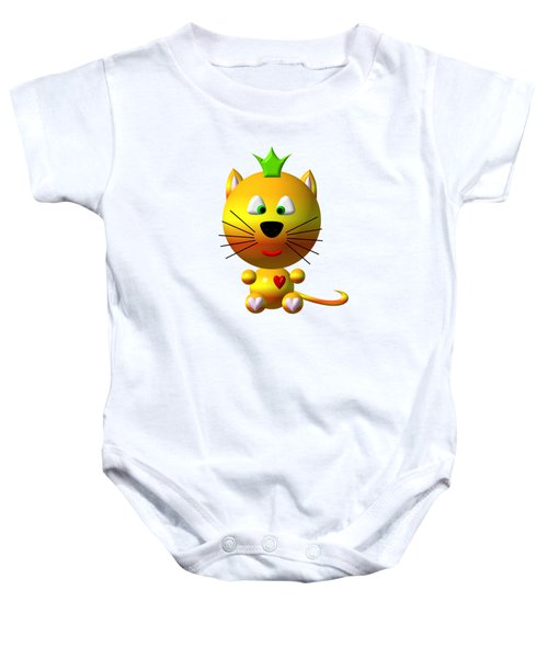 Cute Cat With Crown Baby Onesie