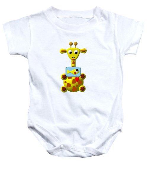 Cute Giraffe With Goldfish Baby Onesie