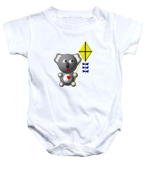 Cute Koala With Kite Baby Onesie