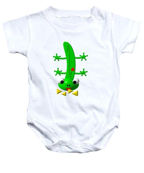 Cute Newt Nibbling Nachos Baby Onesie